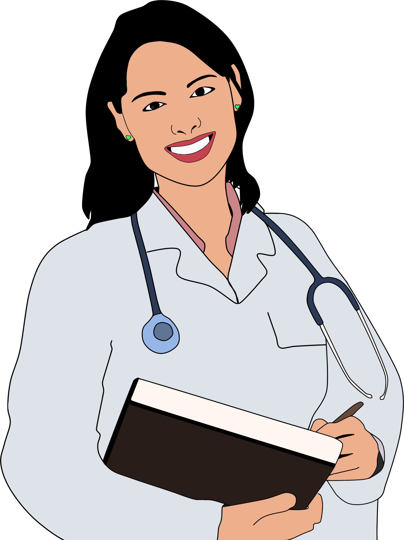 Woman Doctor Clipart.