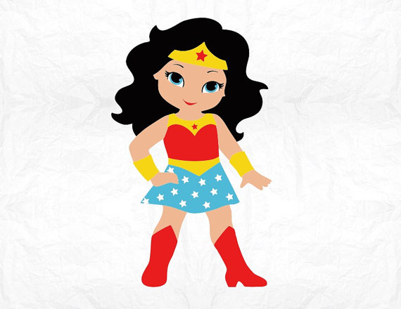 Wonder Woman Cartoon Clipart.