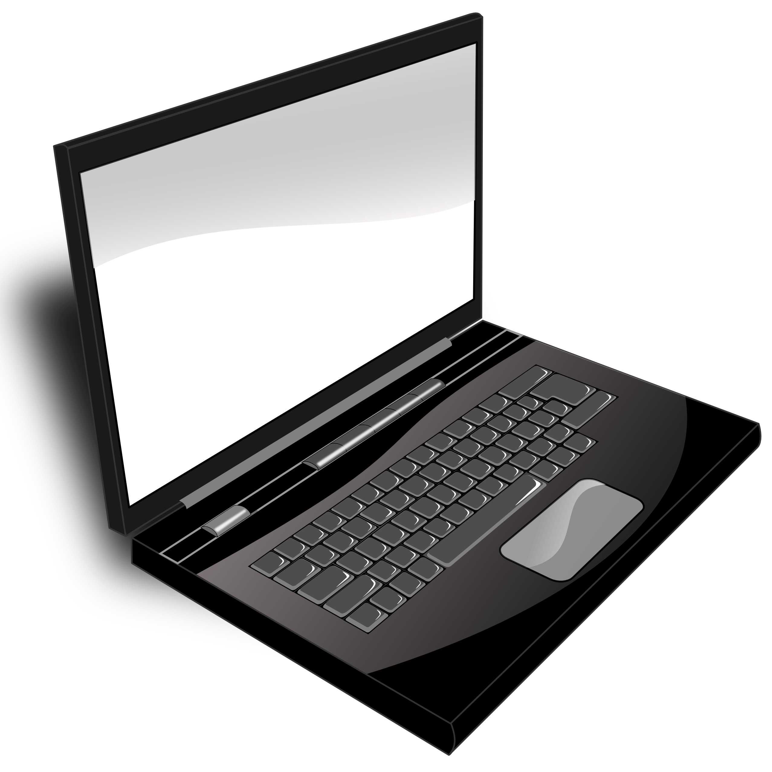Laptop Clip Art Black And White.