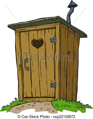 Vectors Illustration of Rural toilet on white background vector.