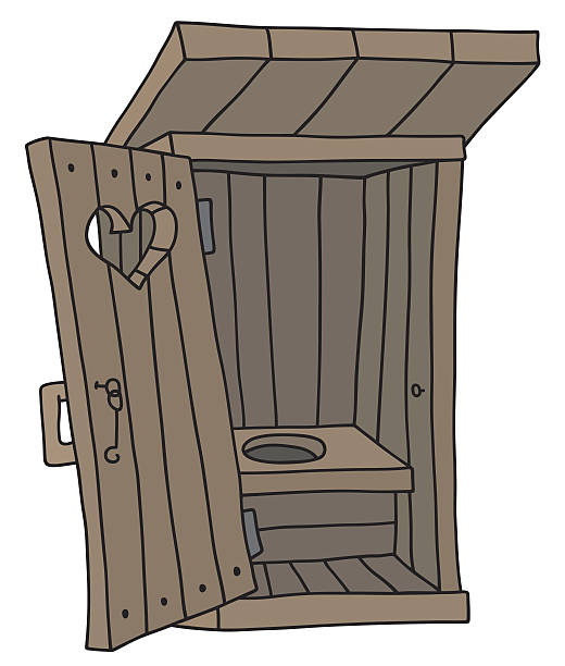 Cartoon Of A Latrine Bathroom Clip Art, Vector Images.
