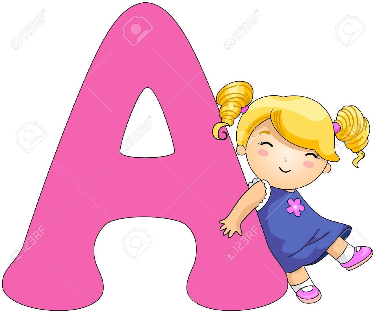 cartoon alphabet letters clip art #19.