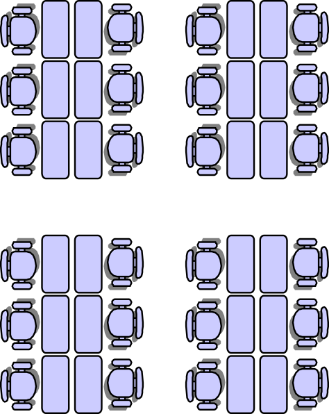 Classroom Seat Layouts Clip Art.