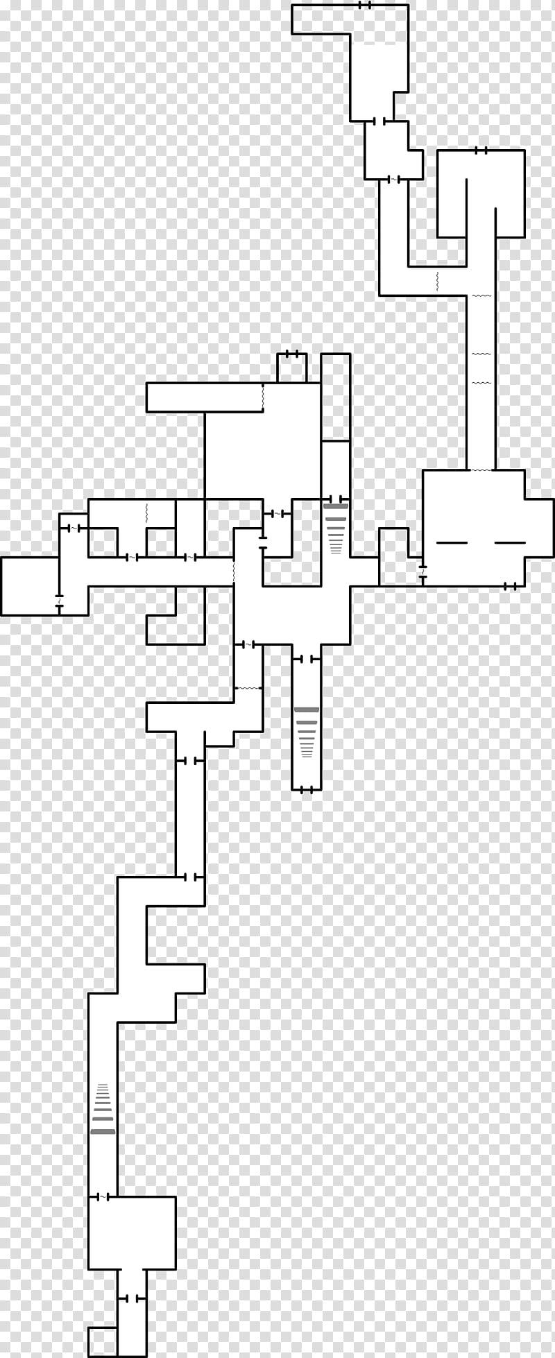 Chapter v map layout, white and black illustration.