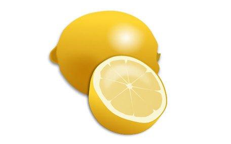Fresh Lemon and Lemon Slice Realistic Vector Clipart Picture.