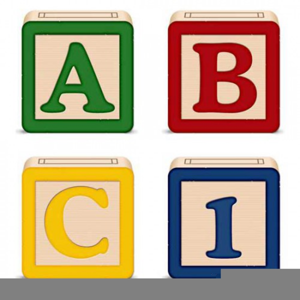 Baby Block Letters Clipart.