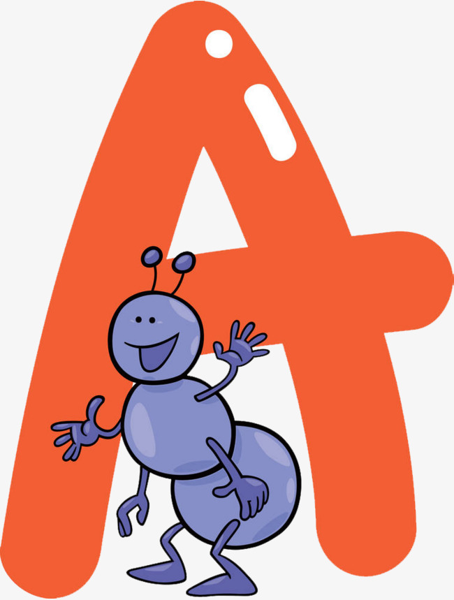 The Letter A Money Ant Clipart PNG Astonishing Simplistic 11.