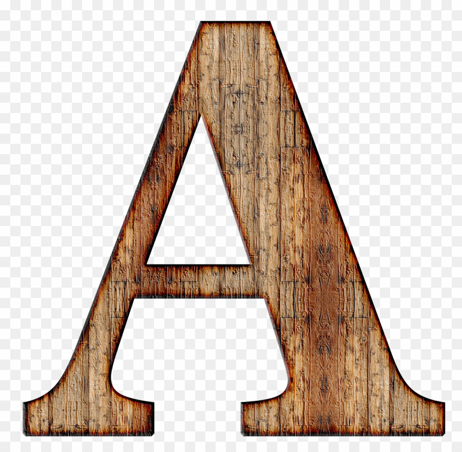 Wooden Letter A Transparent Background PNG Alphabet Letter Clipart.