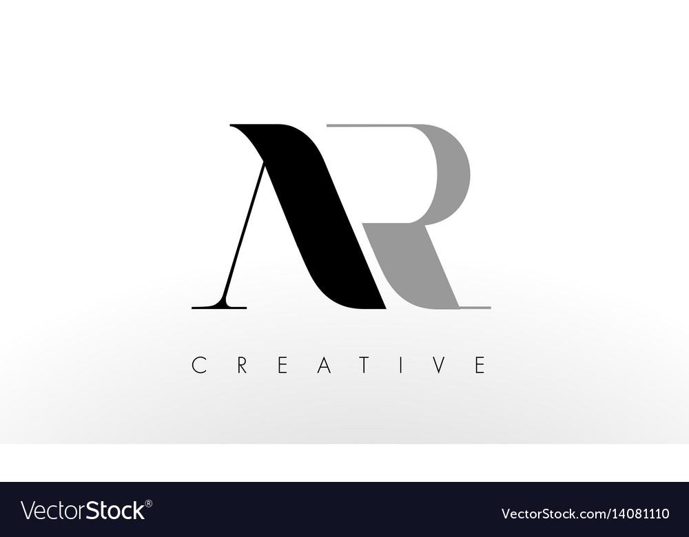 A r letter logo design creative ar letters icon.