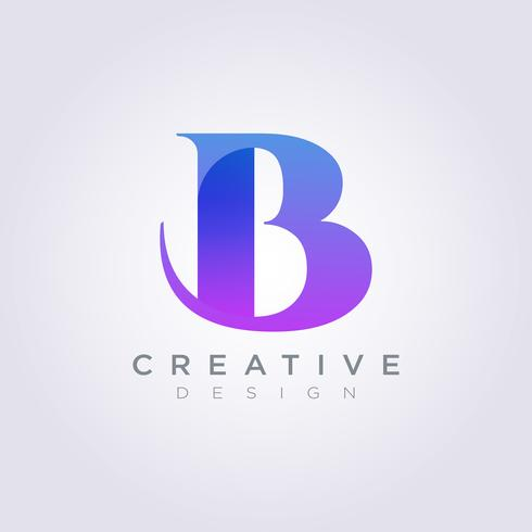 Letter B Vector Illustration Design Clipart Symbol Logo.