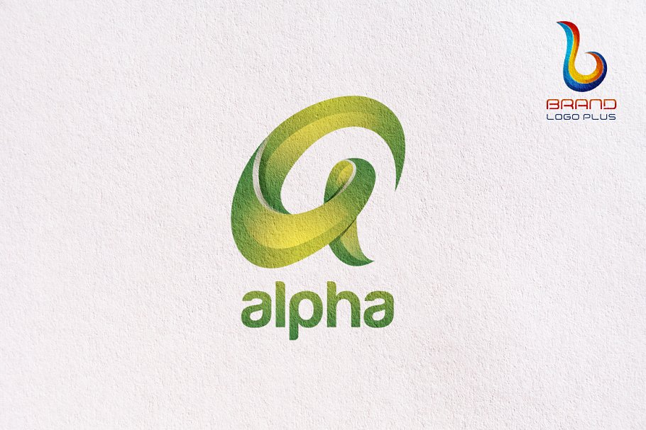 Alpha 3D Letter Logo Design Template.
