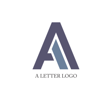 designer logos with alphabet A.