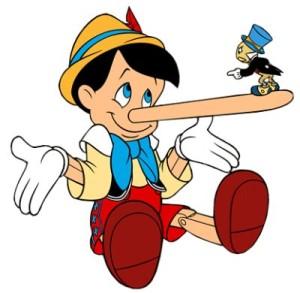 Telling A Lie Clip Art.