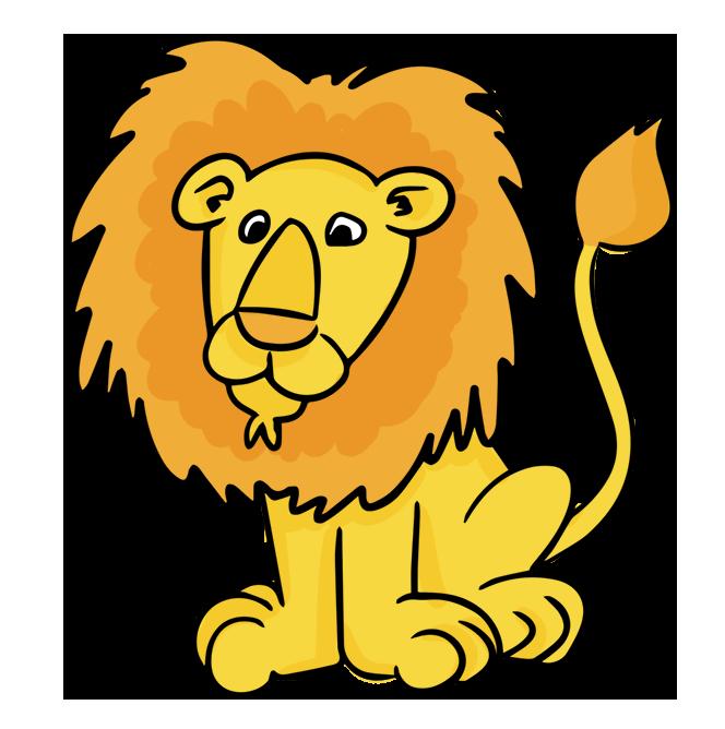 cartoon male lion clip art.