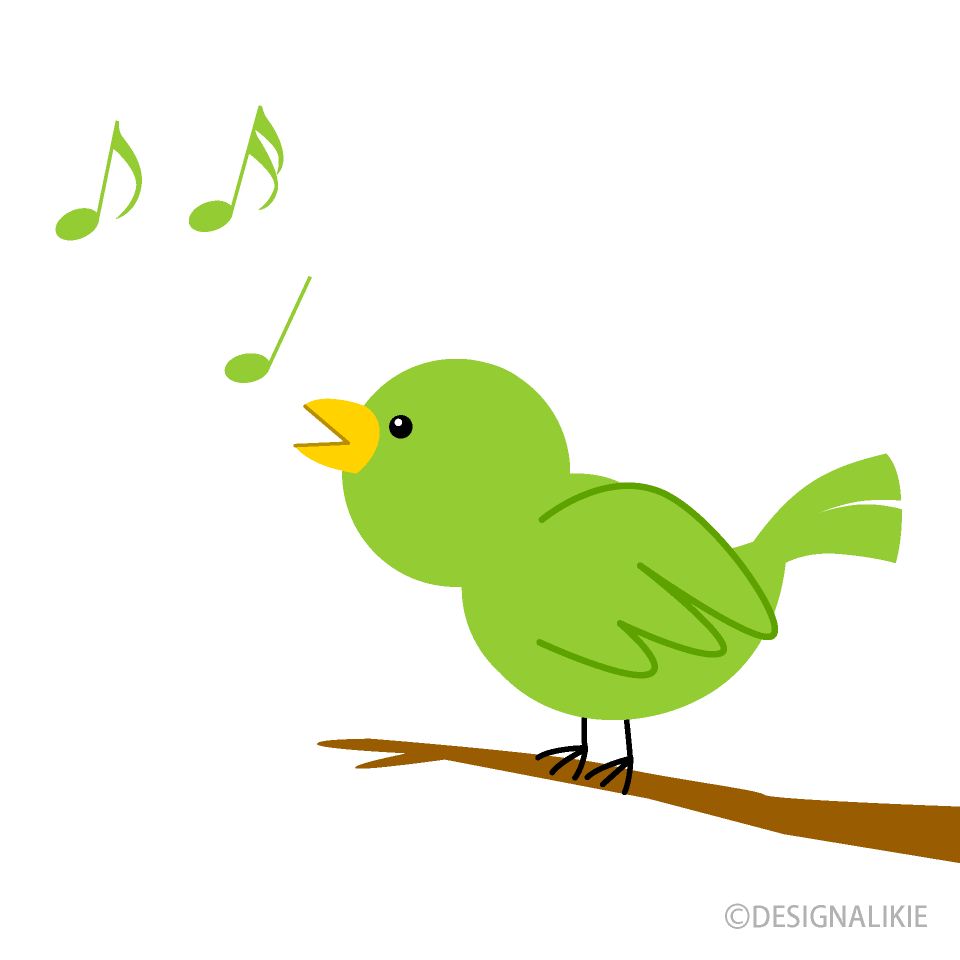 Free Tweeting Little Bird Clipart Image|Illustoon.