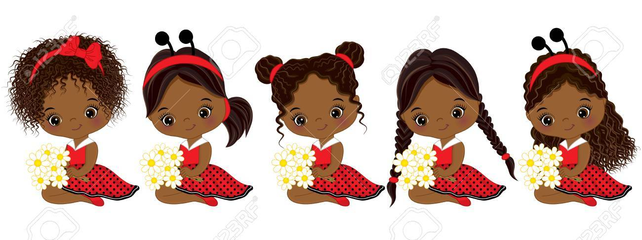 African Girl Clipart.