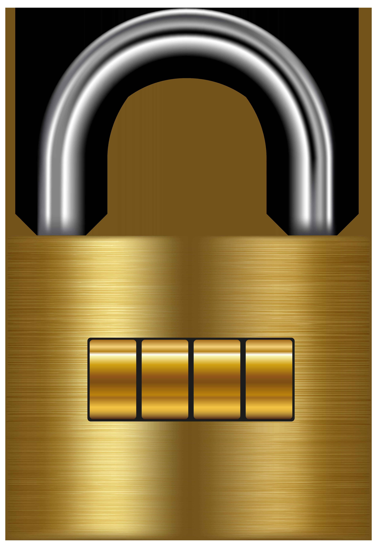 Lock Gold PNG Clip Art.
