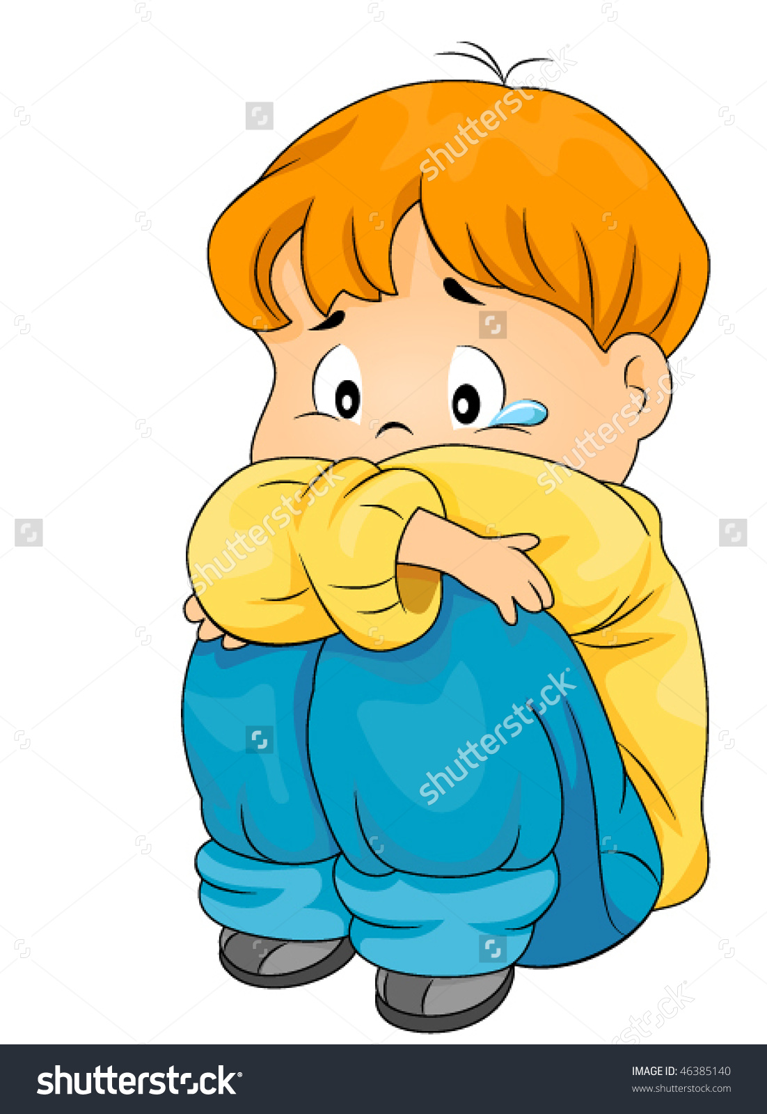 Gif clipart images of a lonely kid.