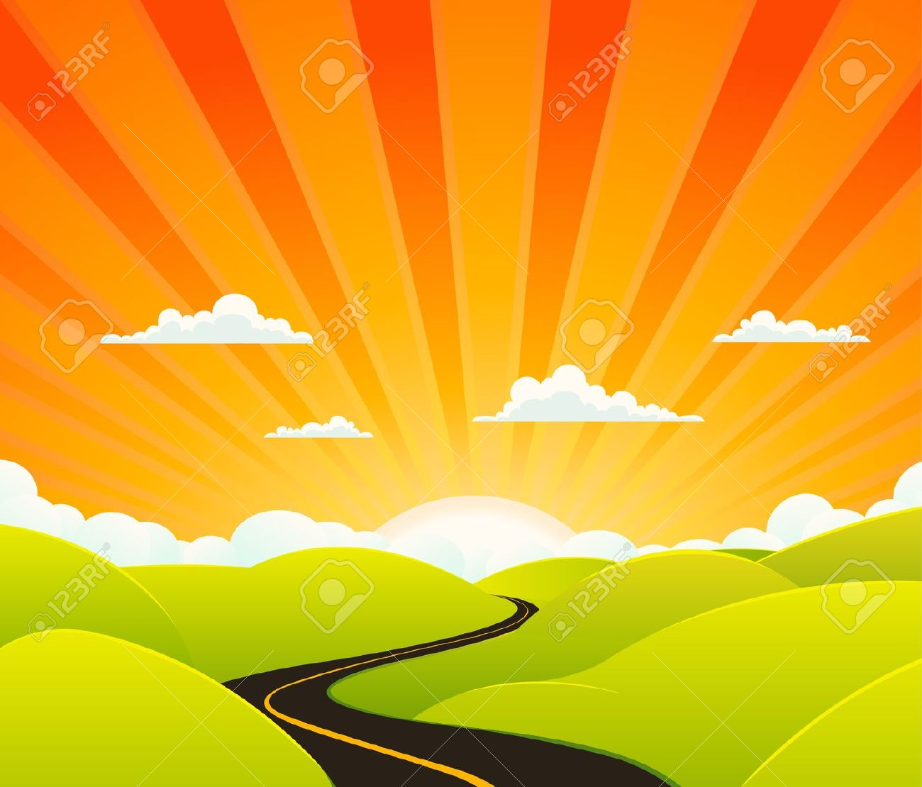 Journey road clipart.