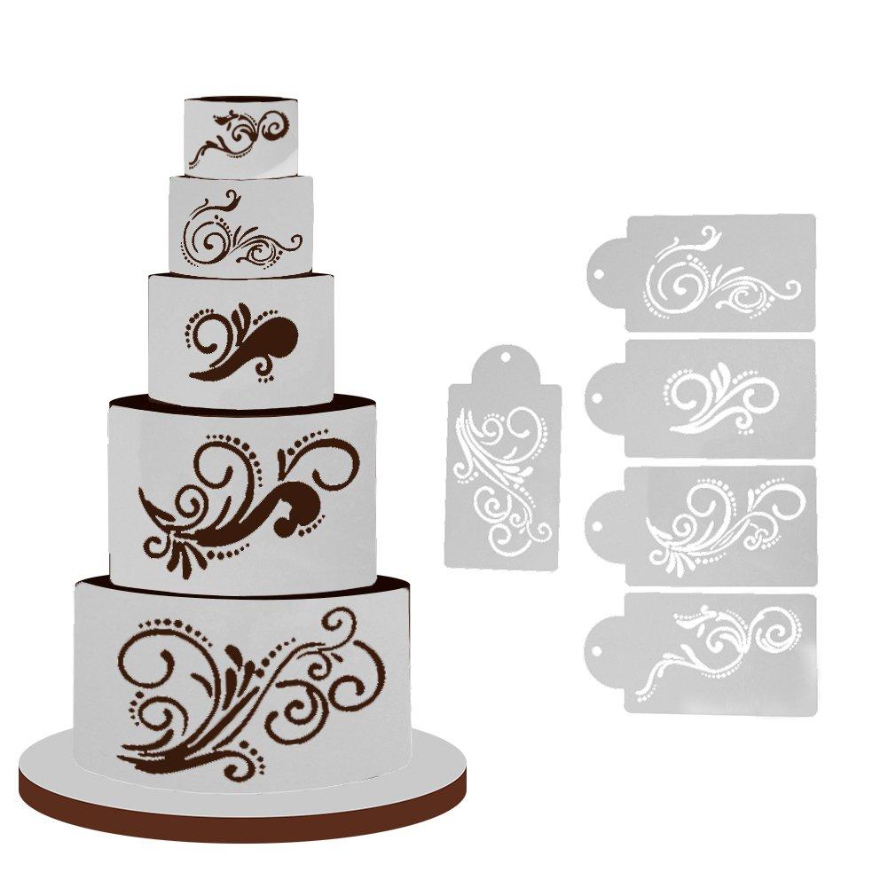 Buy Pinkdose® 5Pcs/Lot Cake Stencil Mould Plastic Cookie.