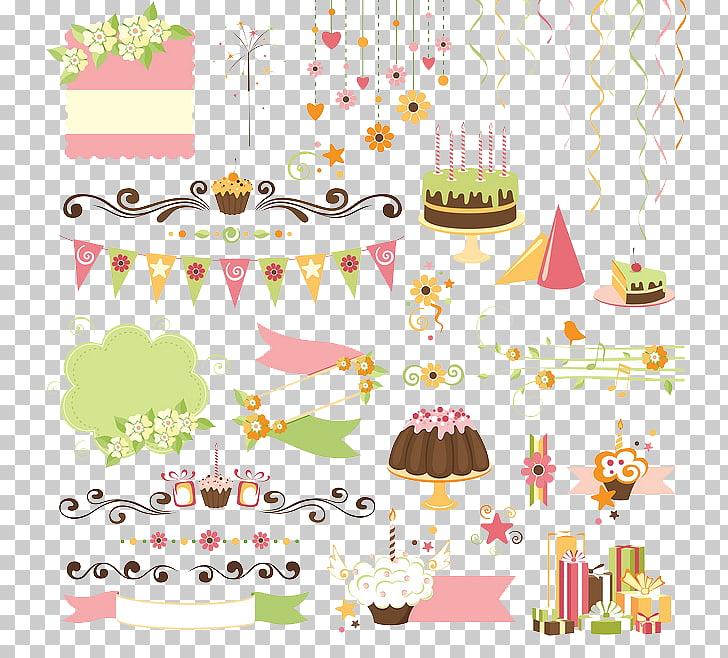 Birthday cake Gift , celebrate, multicolored birthday decor.
