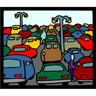 Car parking lot clipart.
