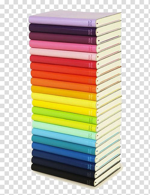 Assorted book lot, Color chart Notebook Pencil case, Color.
