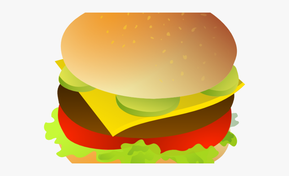 Veggie Burger Clipart Burger Vector.