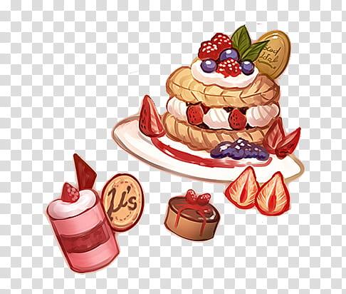dessert illustration transparent background PNG clipart.