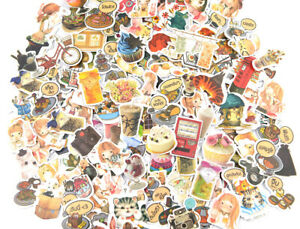 Details about NEW Cartoon Anime Nature Cat Flowers Coffee Fashion Food  clipart Sticker lots.