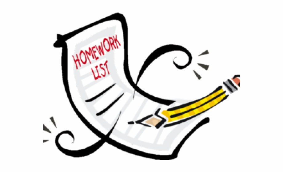 Homework Clipart Reminder Homework Transparent Background.