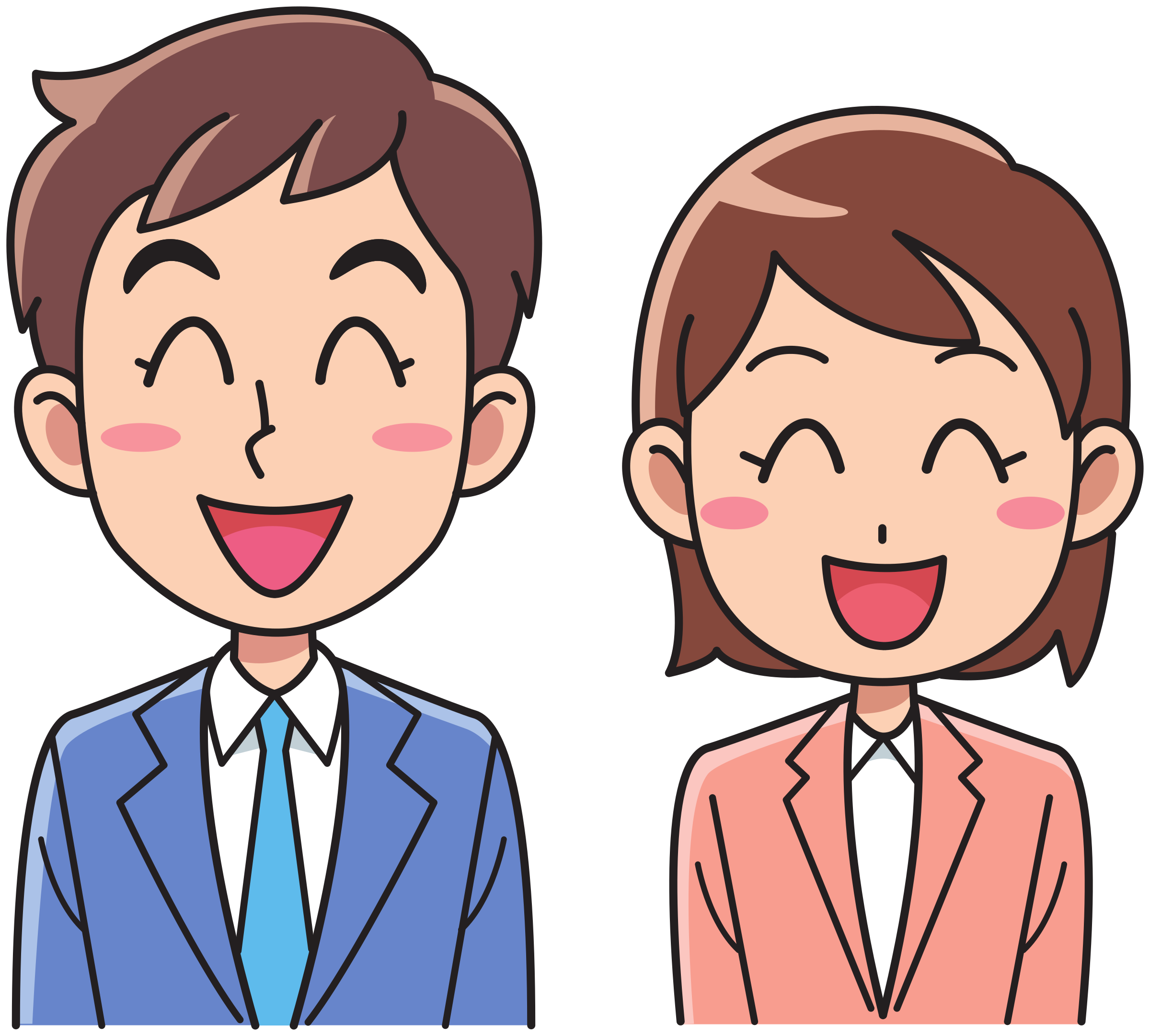 Woman And Man Clipart.