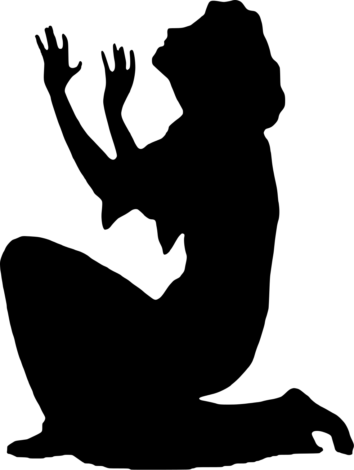 Old Begging Woman Clipart.