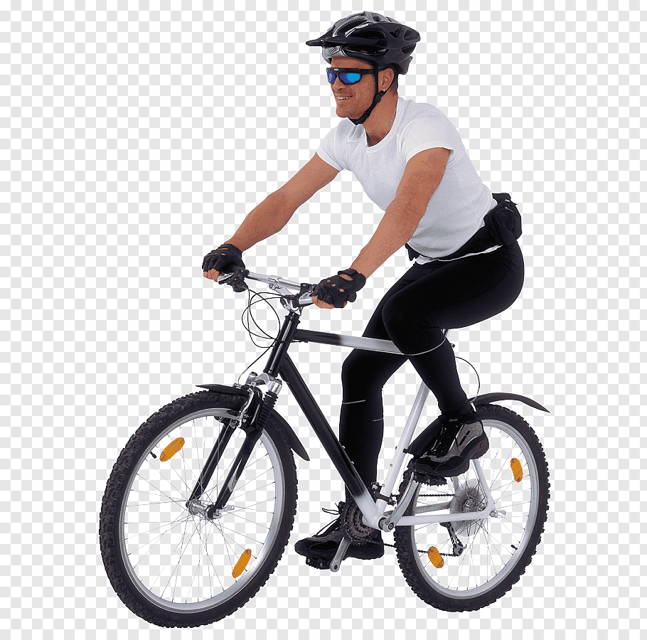Man riding bike, Trek Bicycle Corporation Cycling Person.