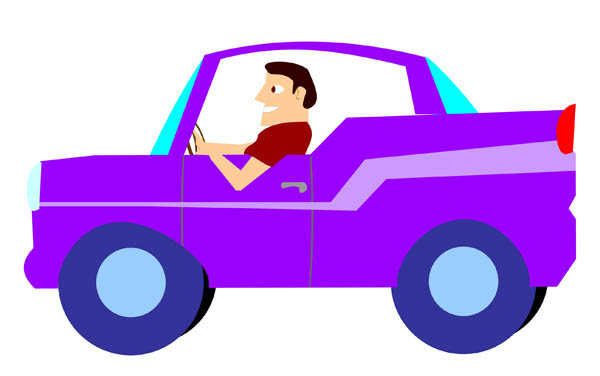 4009 Driving free clipart.