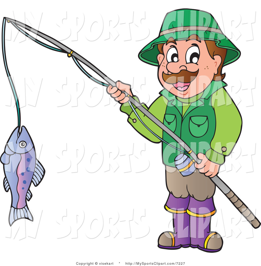 Clipart Man Fishing.