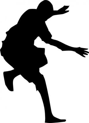 Man Jumping Silhouette clip art free vector.