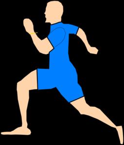 Man Running In Light Blue Clip Art at Clker.com.