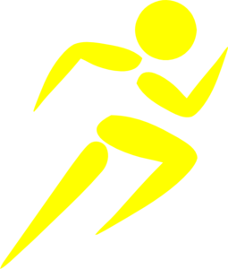 Picture of a man running clipart image #11849.