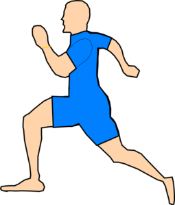 Man Running In Light Blue Clip Art at Clker.com.