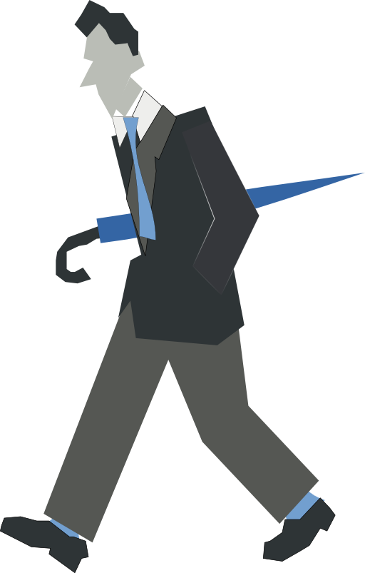 Man Walking Clipart.
