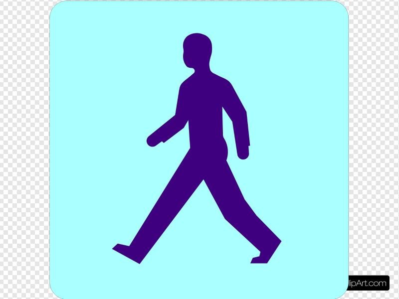 Man Walking Clip art, Icon and SVG.