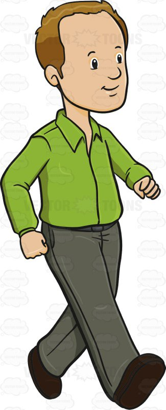 Man walking clipart 3 » Clipart Station.