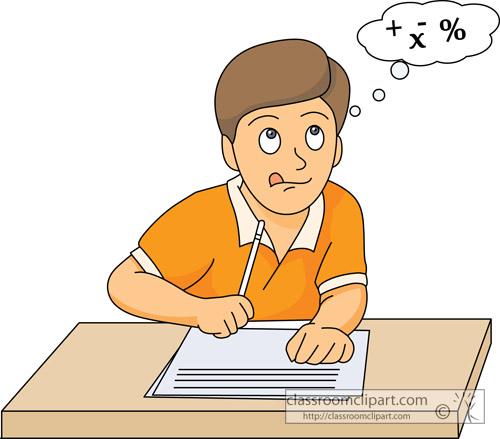 Math Work Clipart.