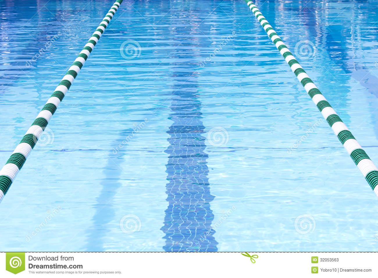 Swimming Pool Swim Lanes Stock Photos.