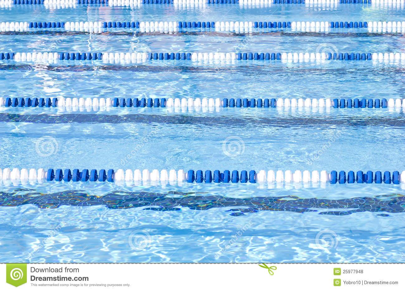Swimming Pool Lanes Royalty Free Stock Photos.