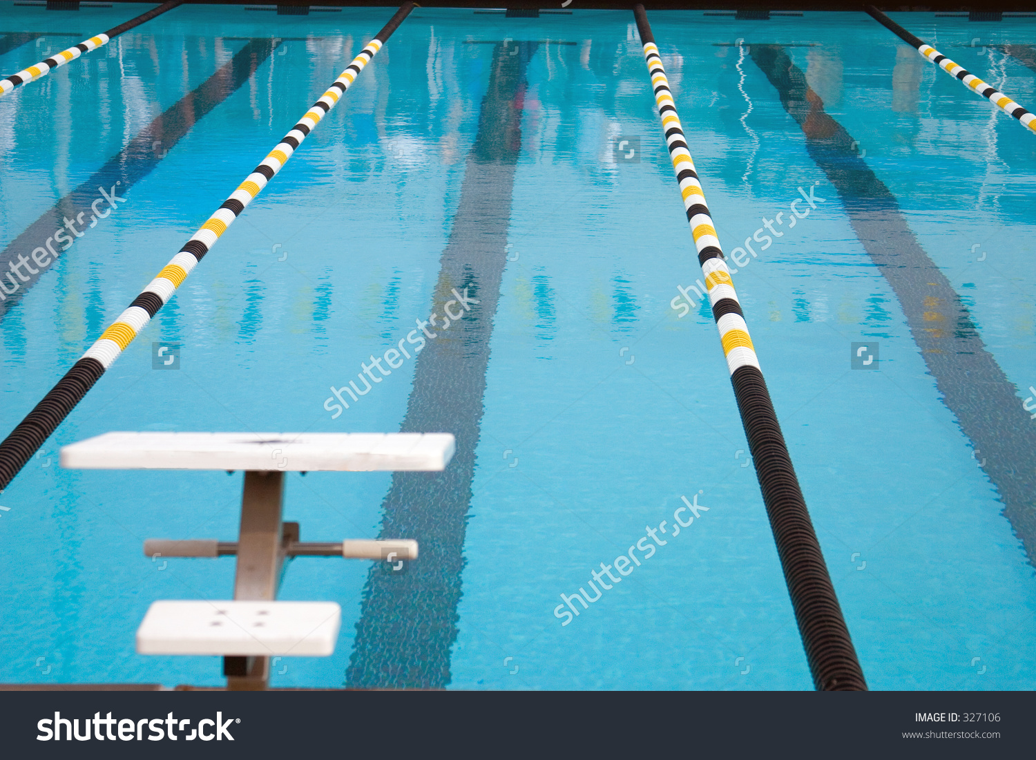 An Olympic Size Swimming Pool Stock Photo 327106 : Shutterstock.
