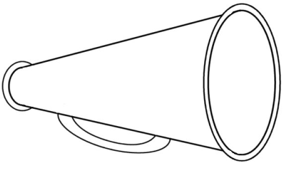 Megaphone clipart cheerleading free clipart images 3.
