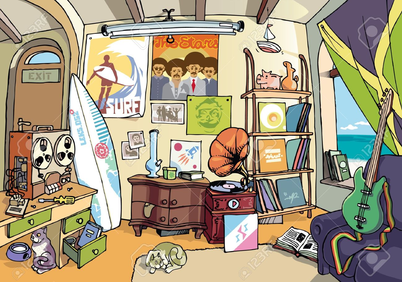 Cartoon Messy Room Free Download Clip Art.