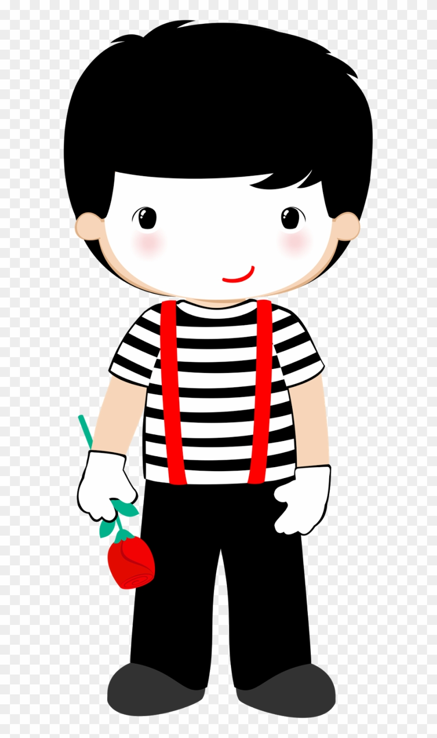 Kids Mime Clipart.